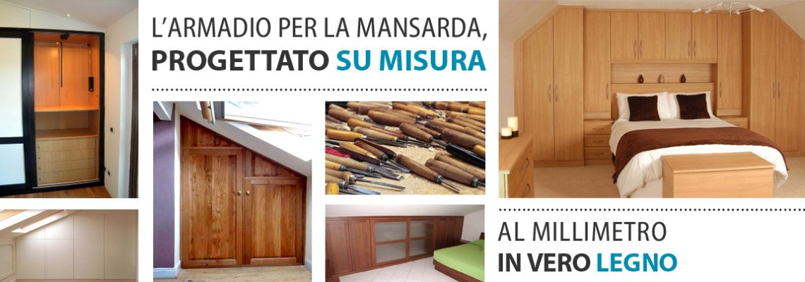 Armadi per mansarde su misura falegnamerie design for Prezzi mansarde