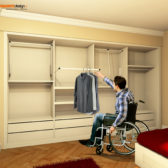 armadio a muro per disabili