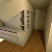 armadio per mansarda