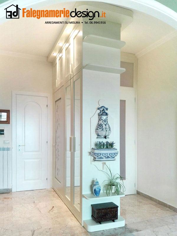 armadio divisorio soggiorno - Arredamenti e Mobili su misura roma