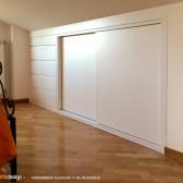 armadio in legno per mansarda