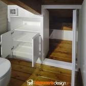 armadio bagno in mansarda