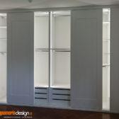 armadio scorrevole con illuminazione led