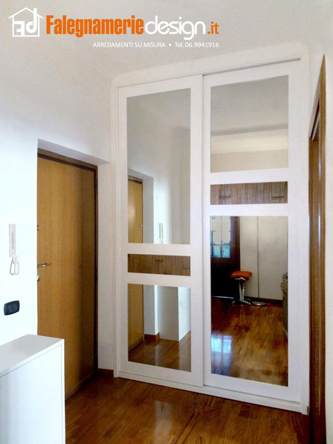Armadi a muro roma tutto su misura in vero legno - Armadio ikea con specchio ...