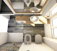 bagno grigio moderno