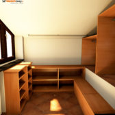 cabine armadio per mansarde