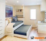 camera con letto estraibile in legno