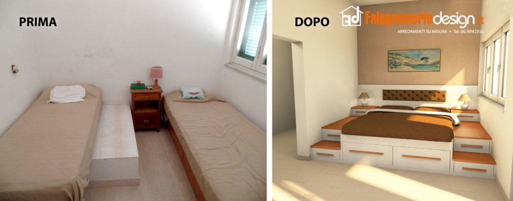 Camere da letto roma tutto in vero legno su misura for Camere da letto piccole