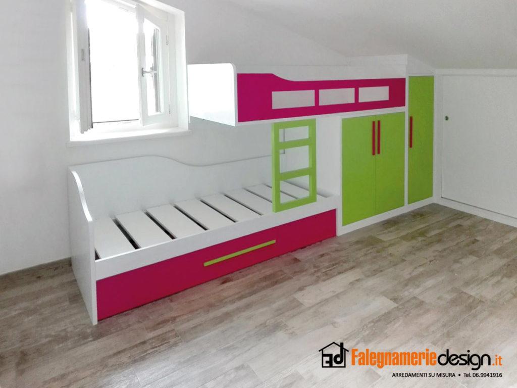 Camerette A Soppalco Verde.Foto Letti A Soppalco Su Misura Falegnamerie Design