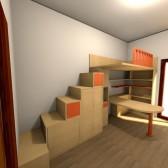 cameretta contenitori sotto le scale
