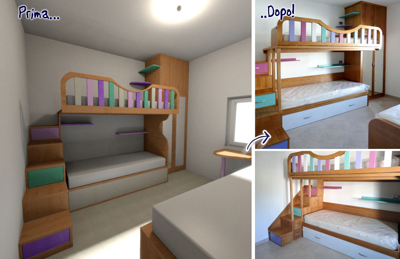 Foto camerette su misura falegnamerie design - Camerette per bambini su misura ...