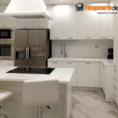 cucina artigianale legno bianco