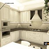 cucina in legno angolare