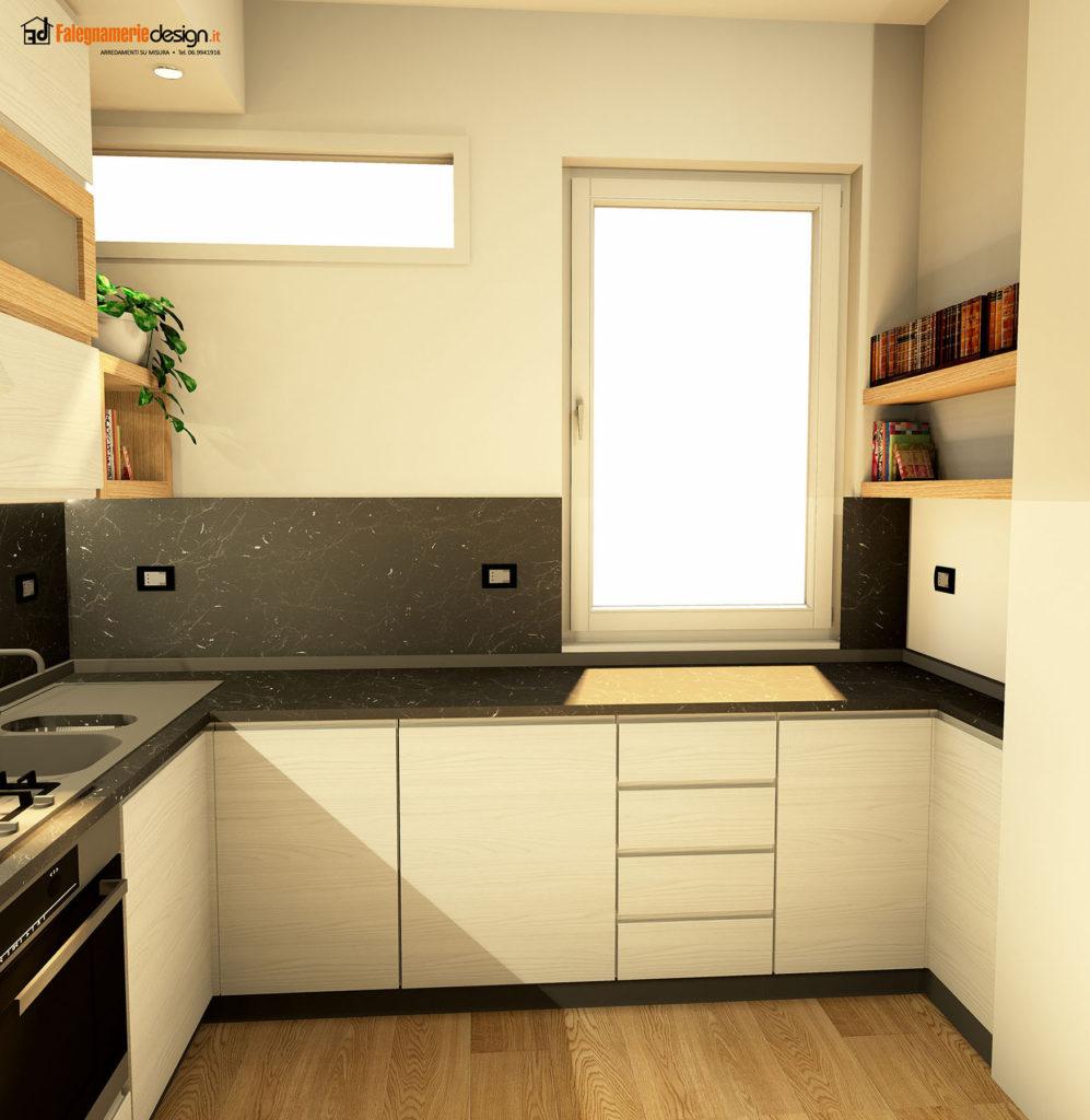 Cucine moderne roma in legno su misura - Cucina legno bianco ...