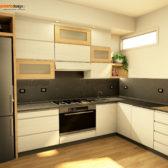 cucina in legno stile moderno