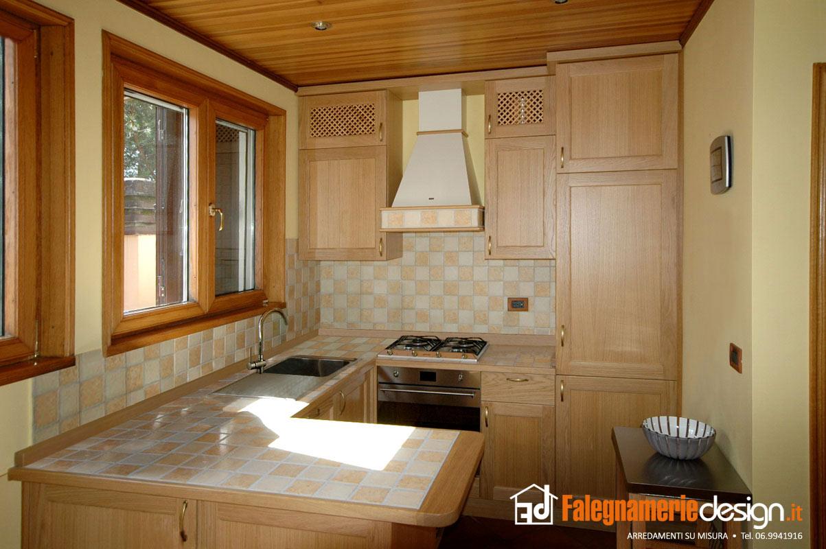 cucina misto muratura arredamenti e mobili su misura roma