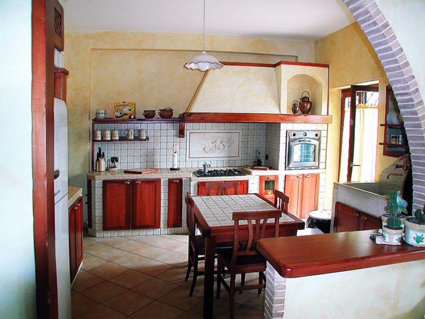 Cucine in muratura roma su misura falegnamerie design - Foto cucine in muratura ...
