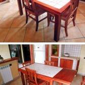 tavolo allungabile in muratura