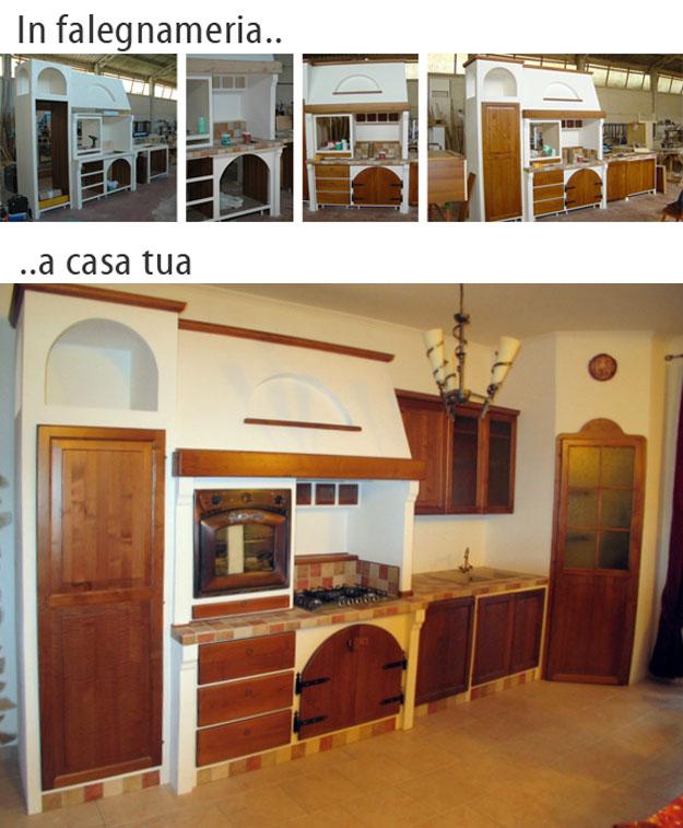 Cucine in Muratura Roma, su misura. FALEGNAMERIE DESIGN