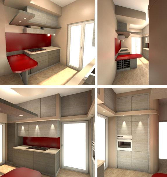 Cucine moderne roma in legno su misura - Design cucine moderne ...