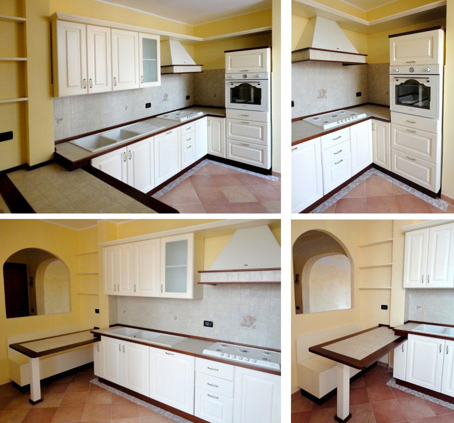 Cucine su misura roma risparmia oltre il 20 per una cucina in legno - Cucina rustica bianca ...