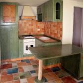 cucina su misura verde