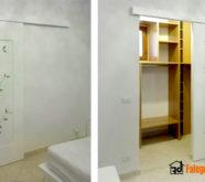 decorazione porta bianca
