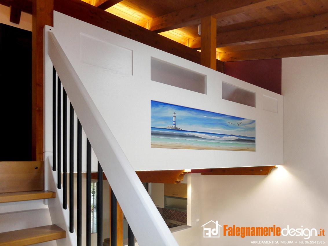 Dettaglio soppalco in legno arredamenti e mobili su for Falegnamerie design