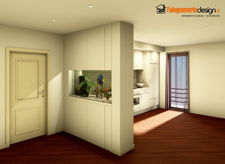 Divisorio entrata cucina arredamenti e mobili su misura roma - Mobili divisori per ingresso ...