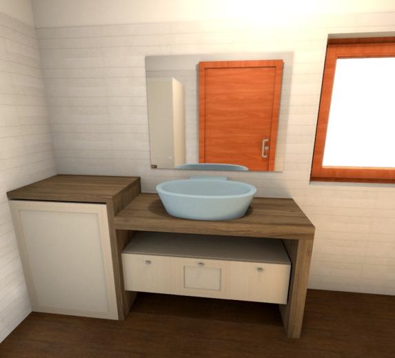 Mobili bagno su misura a pochi passi da roma il negozio del vero legno - Top bagno su misura ...