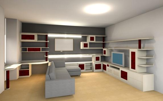 Soggiorni su misura roma falegnamerie design for Pareti attrezzate salotto