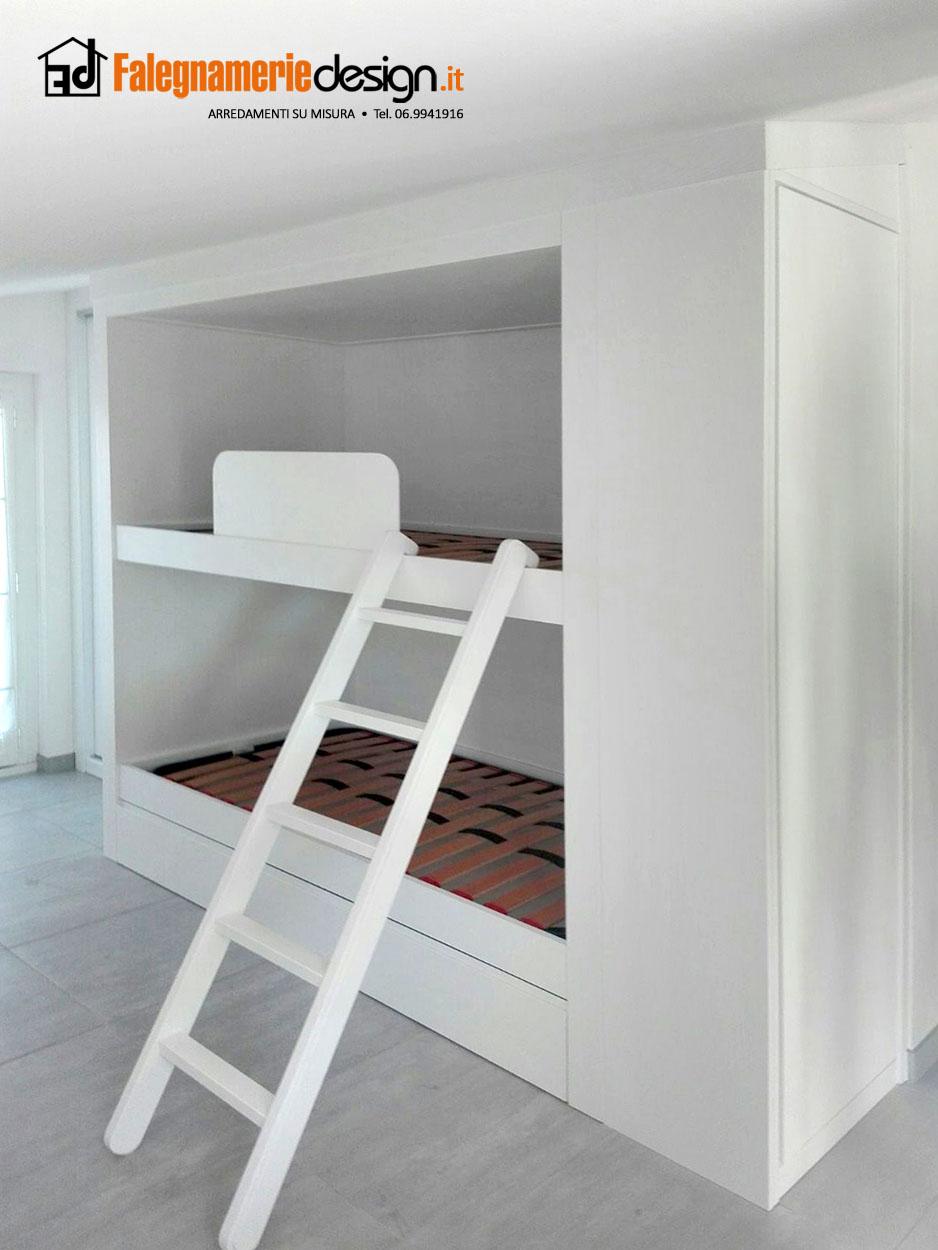 Letti a castello incasso arredamenti e mobili su misura roma for Falegnamerie design