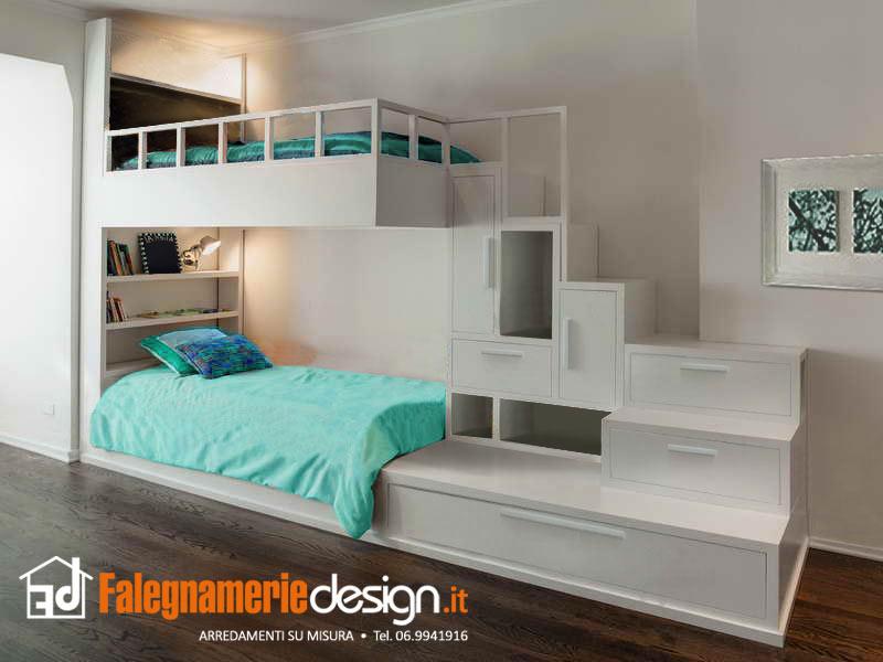 Letti singoli a soppalco in legno arredamenti e mobili for Letti a soppalco per adulti