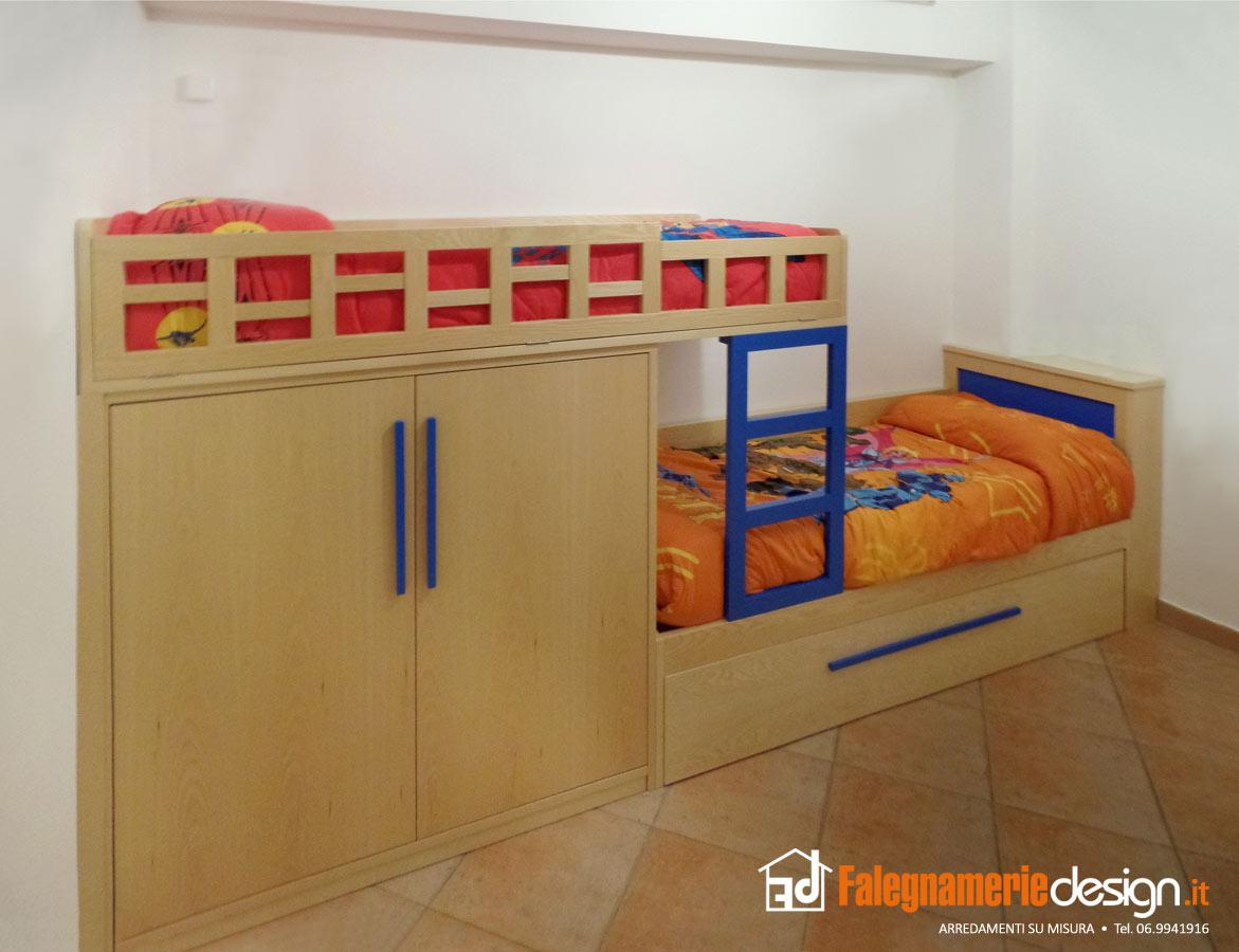 Letti soppalco legno arredamenti e mobili su misura roma for Falegnamerie design