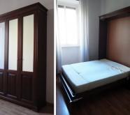 armadio trasformato in letto su misura