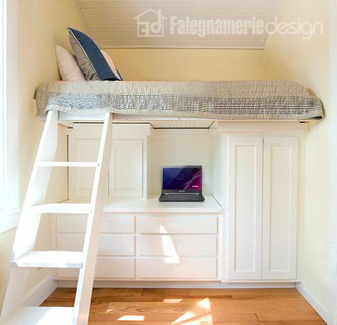 letto soppalcato in legno