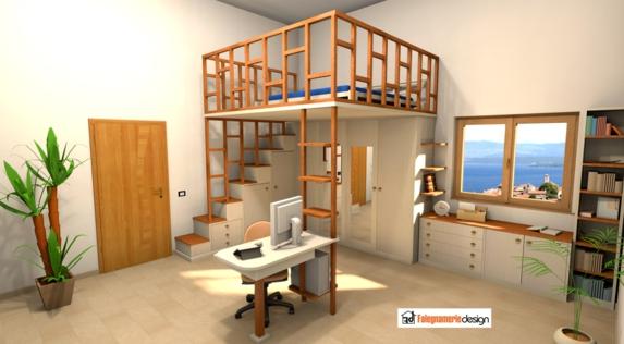 Letti a soppalco su misura roma la soluzione per avere pi spazio - Camere da letto con soppalco ...