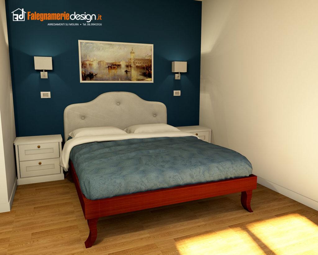 Foto letti su misura falegnamerie design - Letto in ciliegio ...
