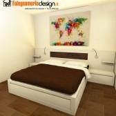 letto in legno su misura roma