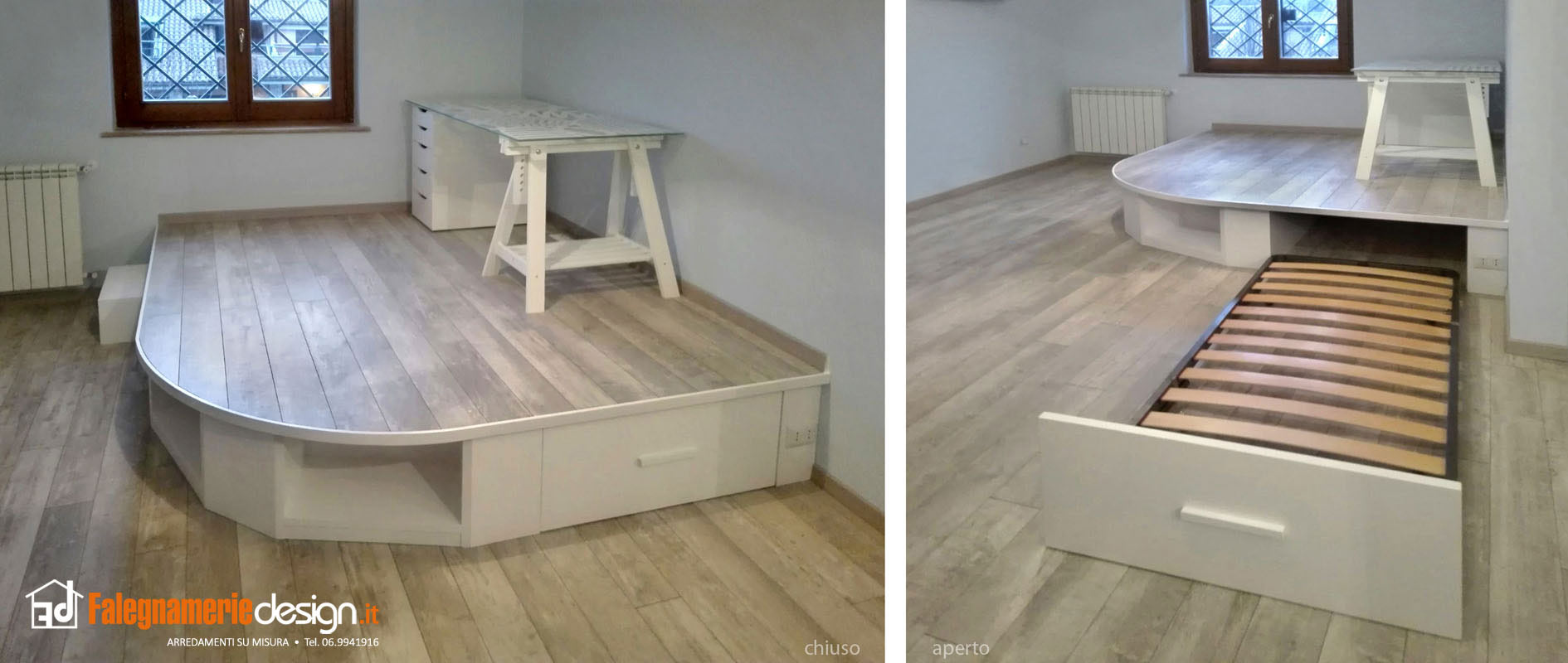 Letto su misura a scomparsa arredamenti e mobili su misura roma - Camera di letto usato ...