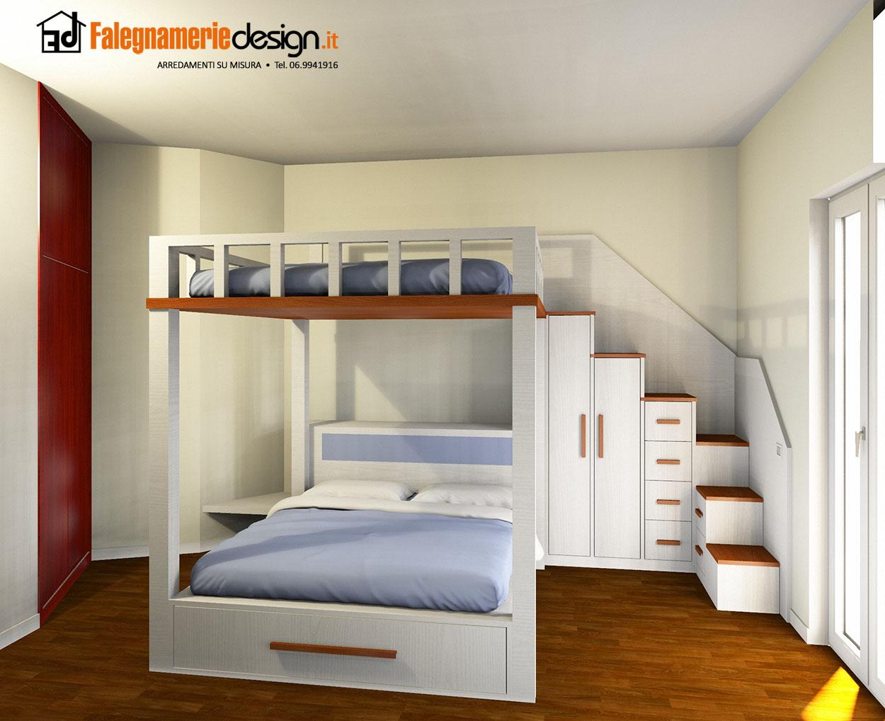 Letto su misura progettazione arredamenti e mobili su misura roma - Reti letto su misura ...