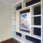 libreria bianca moderna