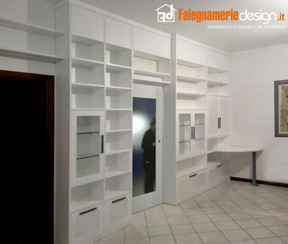 Librerie su misura roma in vero legno al centimetro - Libreria con porta ...
