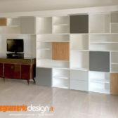 libreria legno grigio