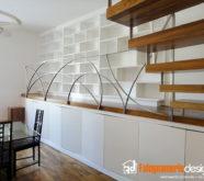 libreria moderna in legno bianco
