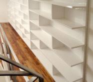 libreria moderna in legno bianco 2