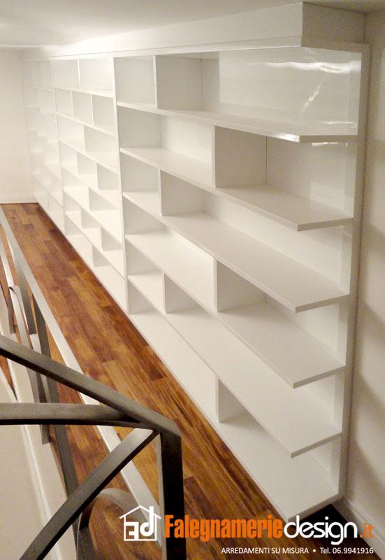 Librerie su misura roma, in vero legno al centimetro