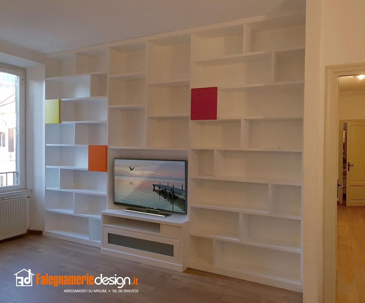 Libreria moderna in legno arredamenti e mobili su misura for Falegnamerie design