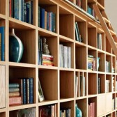 librerie su misura frassino