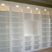 libreria con faretti led